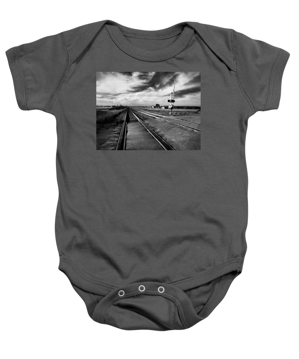 Acrylic Prints Baby Onesie featuring the photograph On The Level by John Herzog