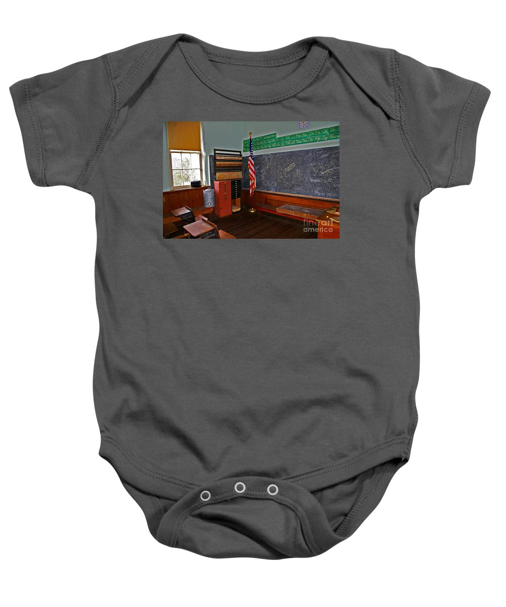 School Baby Onesie featuring the photograph One Room Schoolhouse by Rich Walter