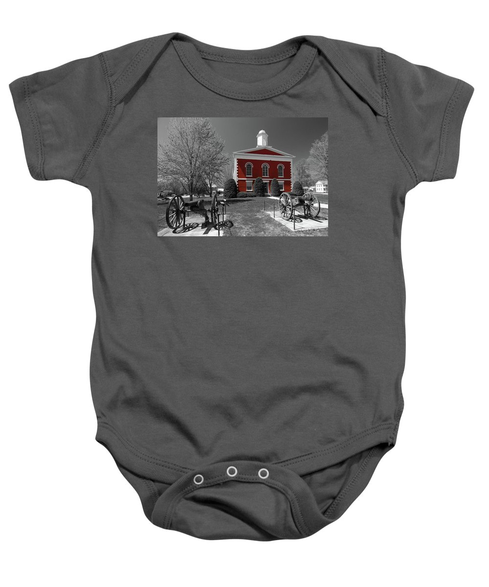 Ozarks Baby Onesie featuring the photograph Order In The Court by Steve Stuller