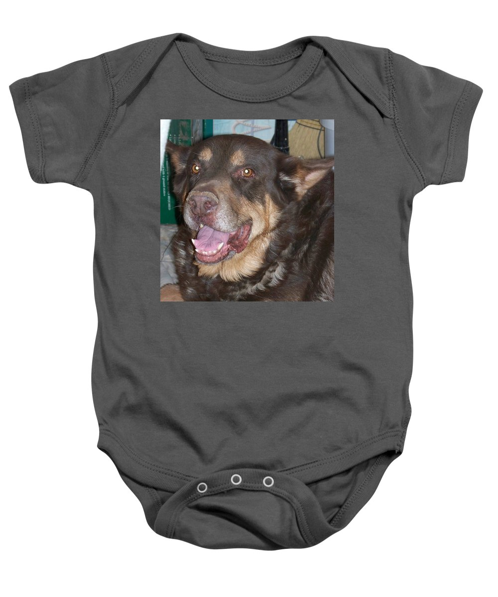 Dog Baby Onesie featuring the photograph Oso Perro by Jonathan Barnes