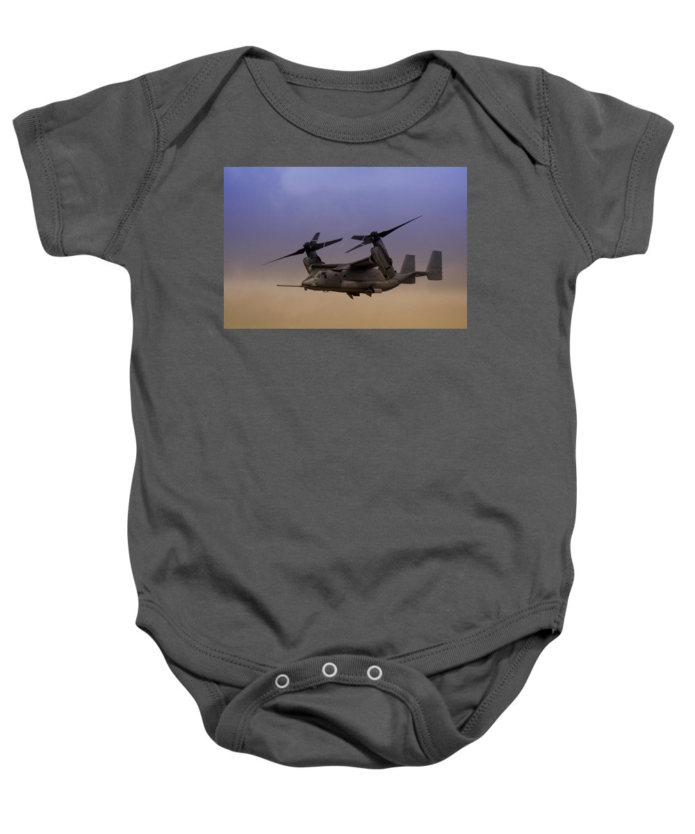 Advanced Baby Onesie featuring the photograph Osprey In Flight I by Ricky Barnard