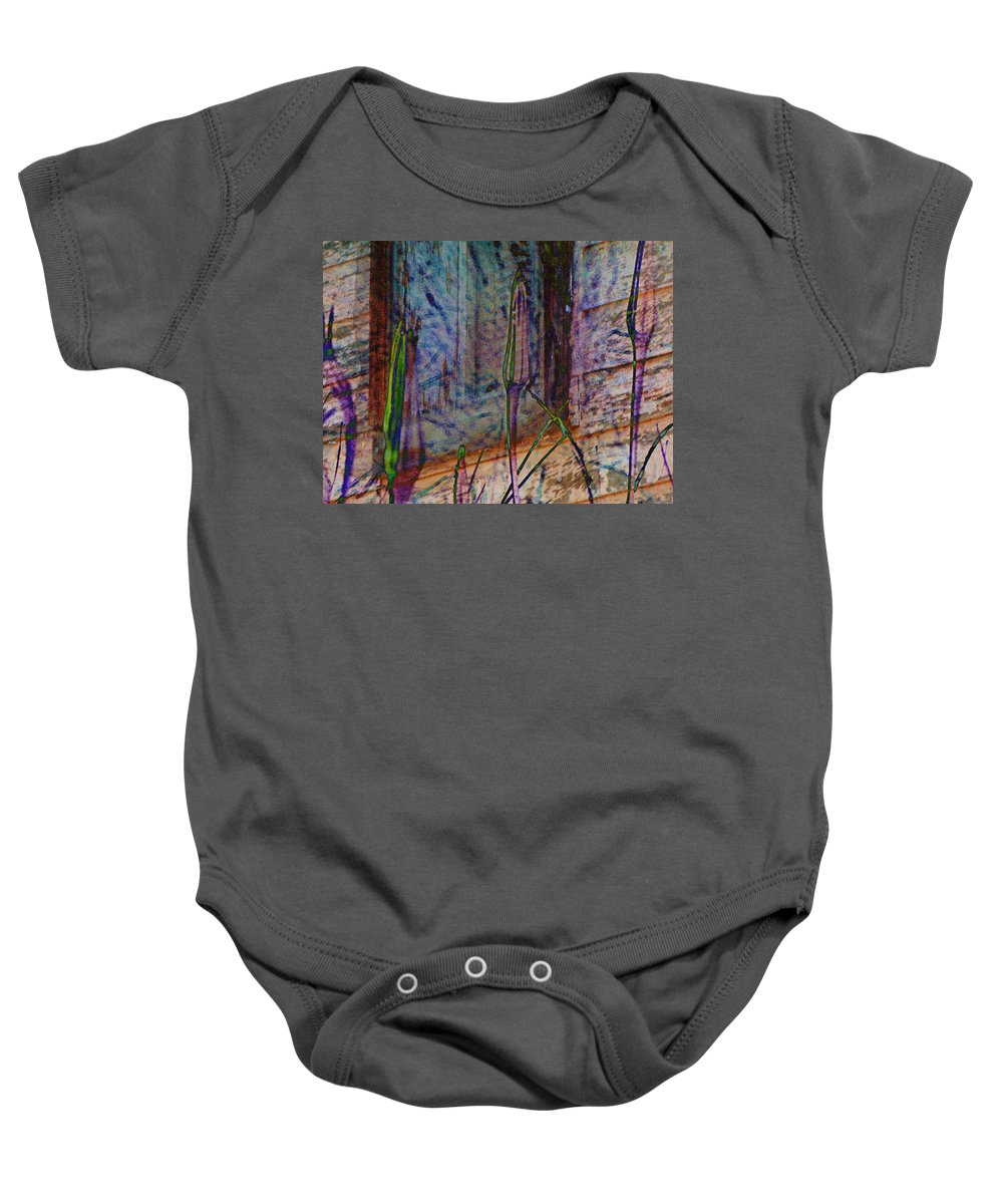 Abstract Baby Onesie featuring the photograph Overgrown by Lenore Senior