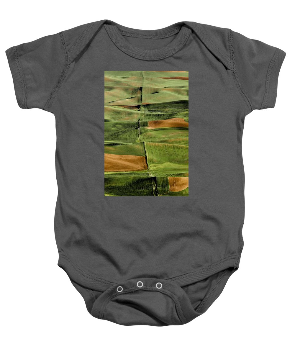 Agriculture Baby Onesie featuring the photograph Palouse Fields, Whitman County by Bilderbuch
