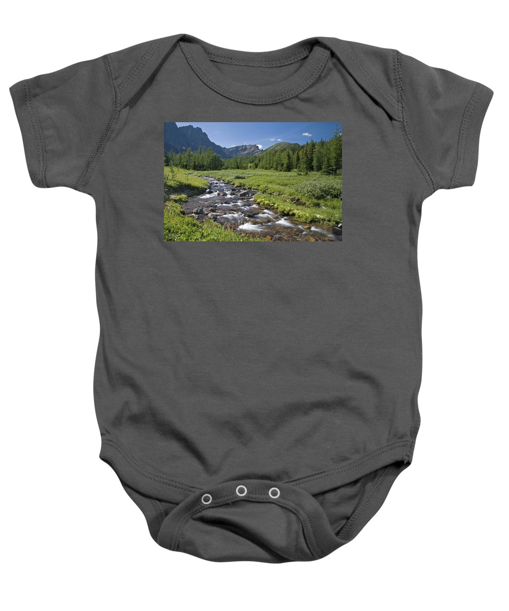 Banff Baby Onesie featuring the photograph Panorama Ridge, Banff National Park by Philippe Widling