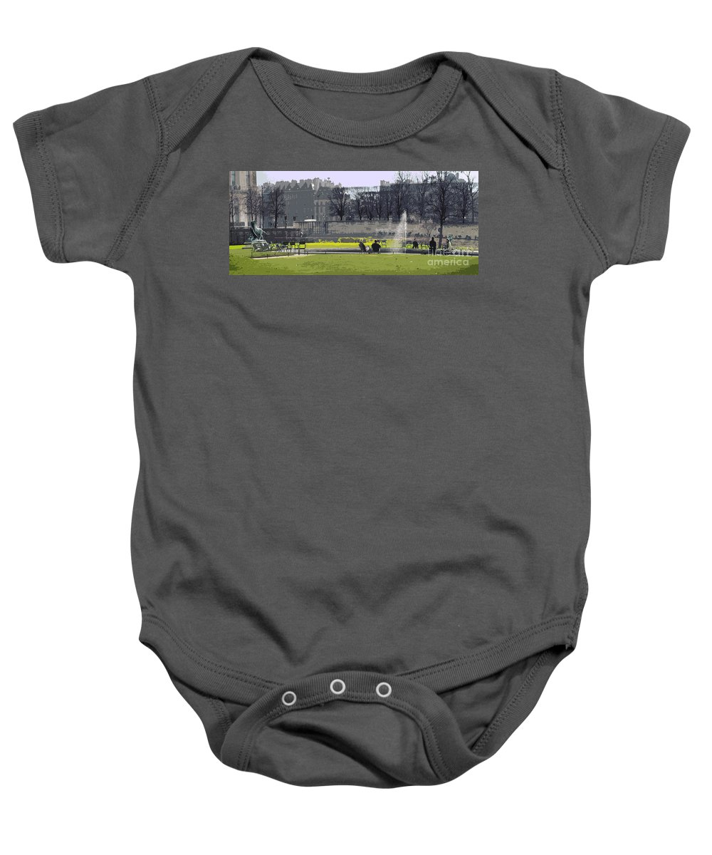 Paris Baby Onesie featuring the photograph Paris 02 by Yuriy Shevchuk