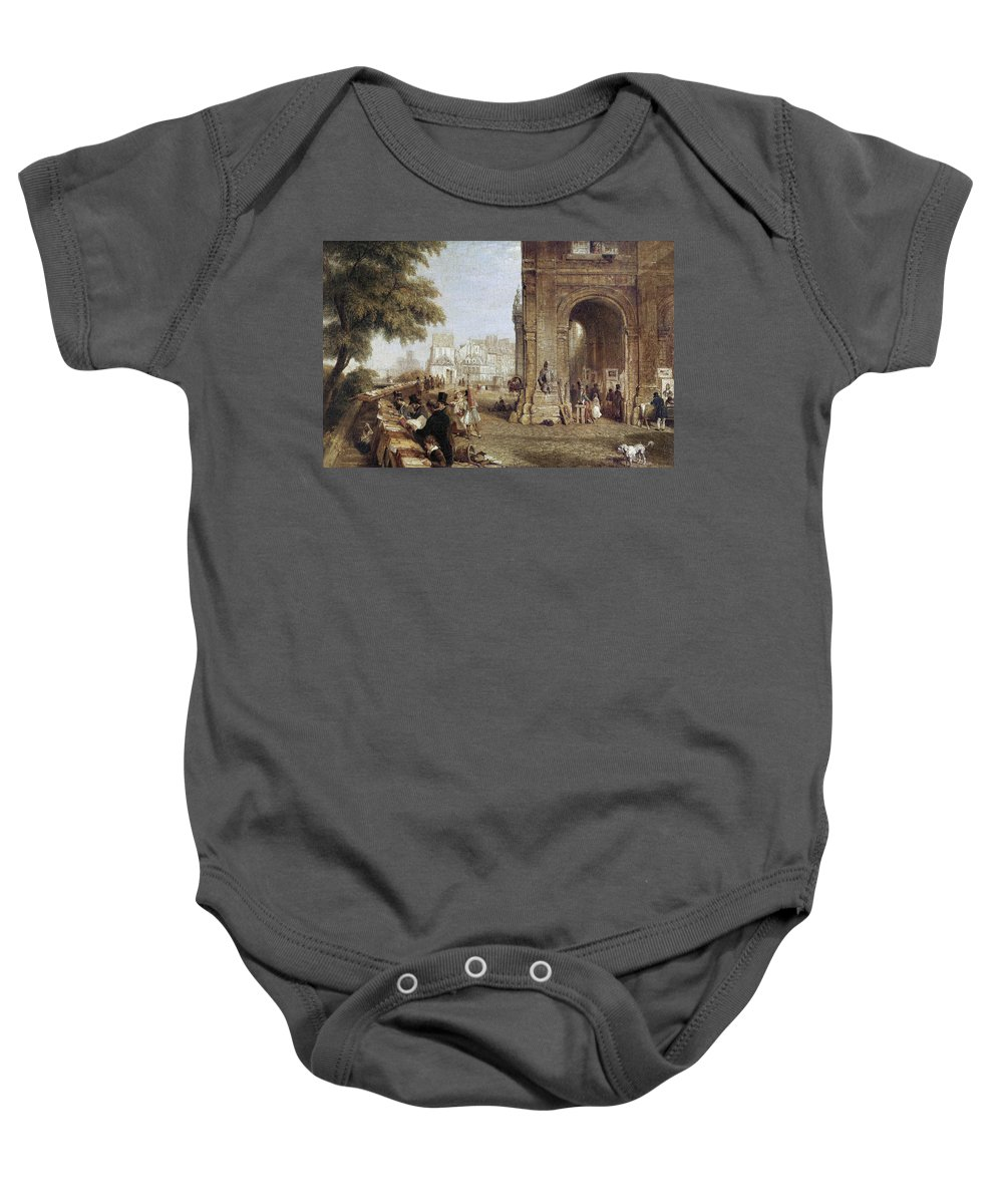 1843 Baby Onesie featuring the photograph Paris: Book Stalls, 1843 by Granger