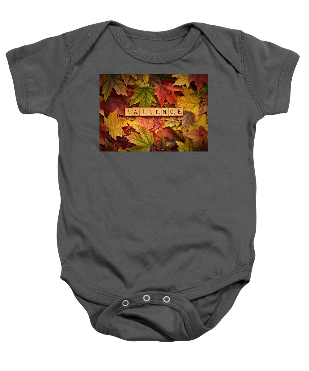 Daniel J. Kmiecik Baby Onesie featuring the photograph Patience-autumn by Onyonet Photo Studios
