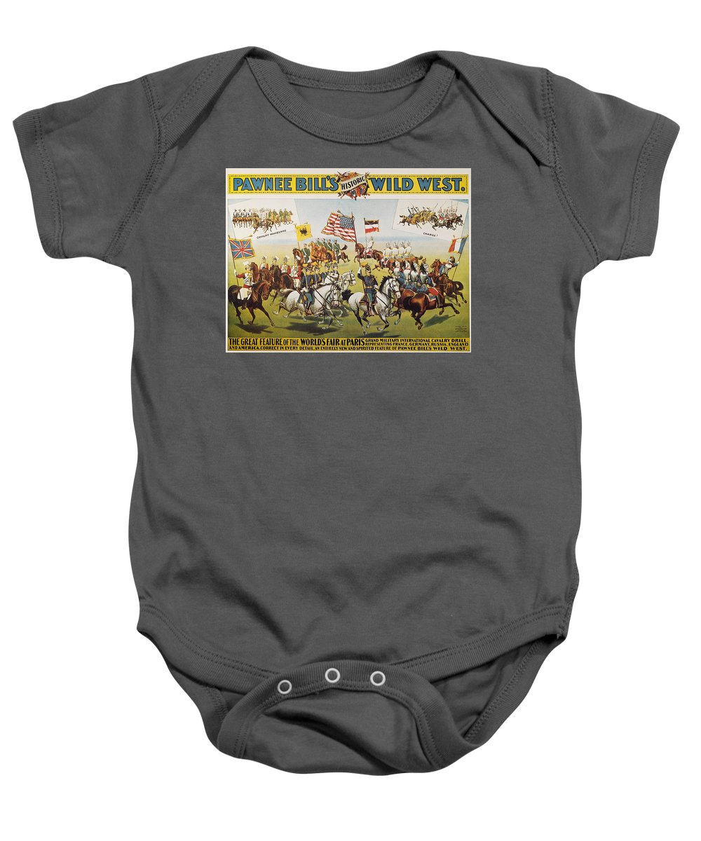 1895 Baby Onesie featuring the photograph Pawnee Bill Poster, 1895 by Granger