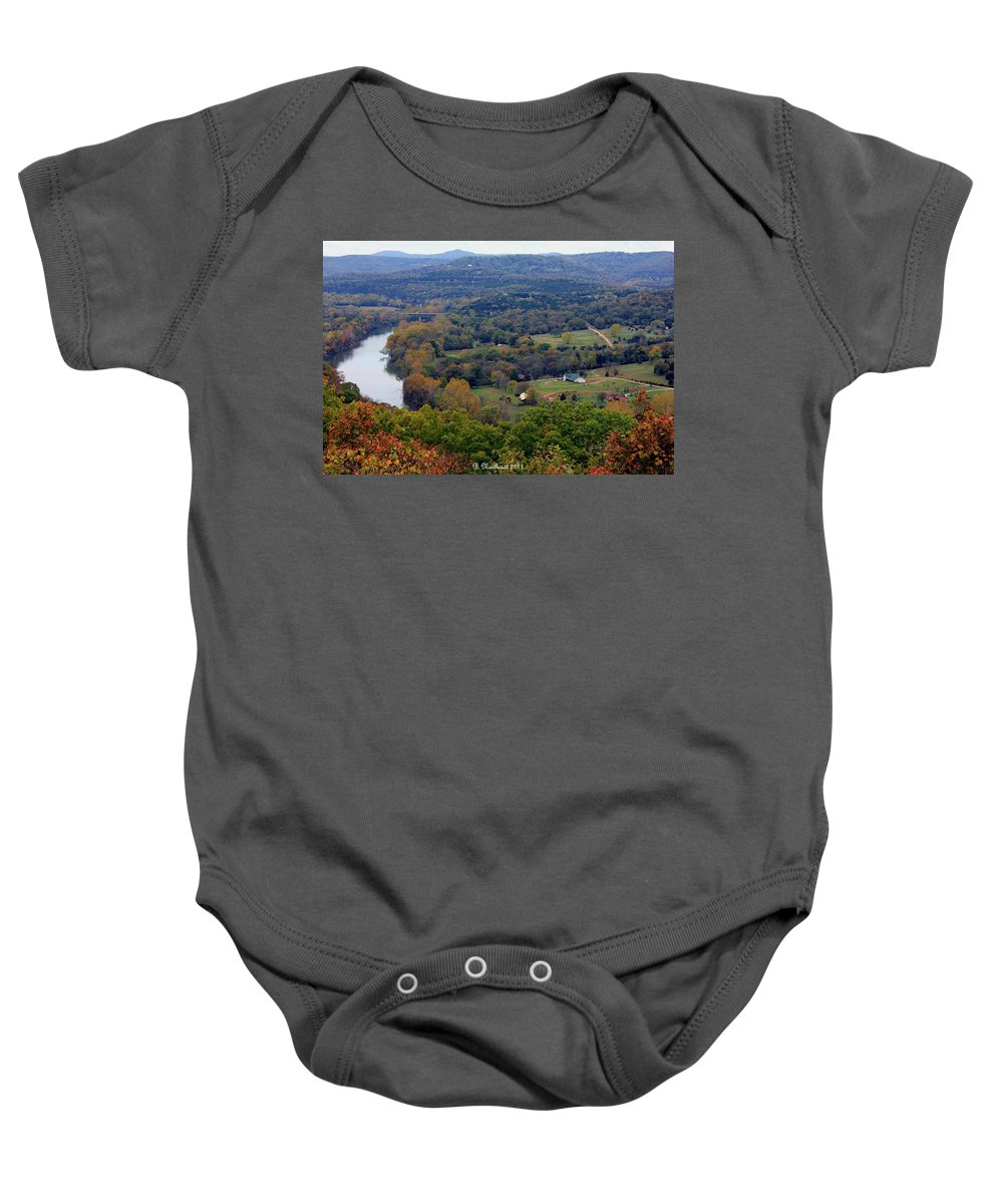Valley Baby Onesie featuring the photograph Peace In The Valley by Betty Northcutt