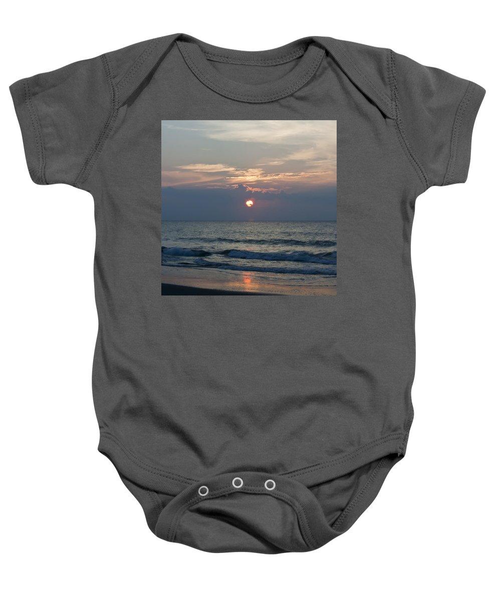 Sunrise Baby Onesie featuring the photograph Peeking Through Squared by Teresa Mucha