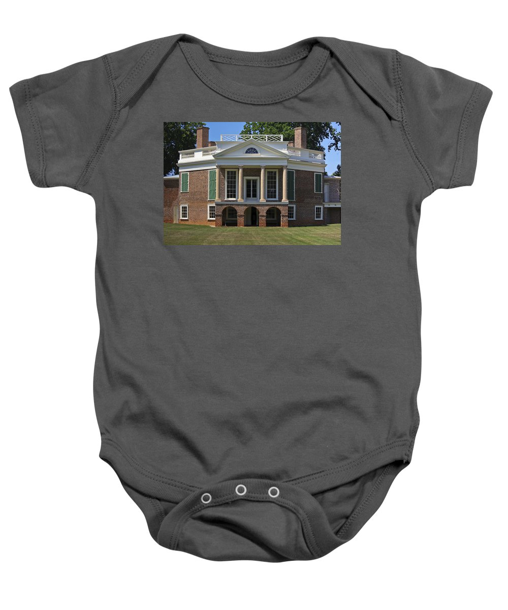 Poplar Forest Baby Onesie featuring the photograph Personal Villa Retreat Of Thomas Jefferson by Teresa Mucha