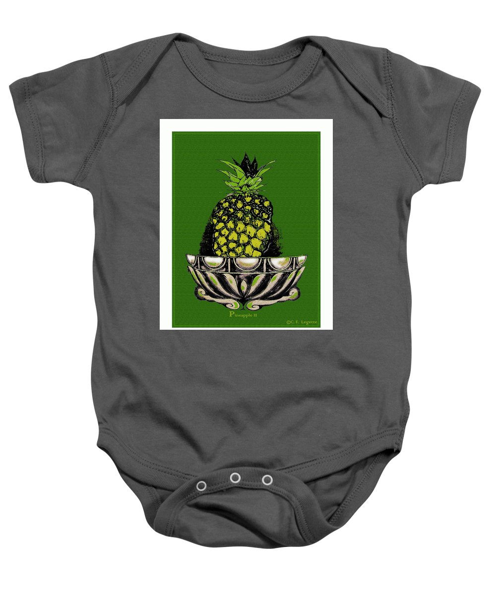 Pineapple Baby Onesie featuring the digital art Pineapple Study by C F Legette