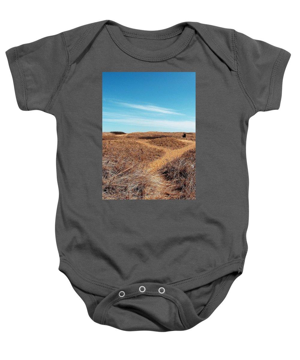 Plum Island Baby Onesie featuring the photograph Plum Island by Jeff Heimlich