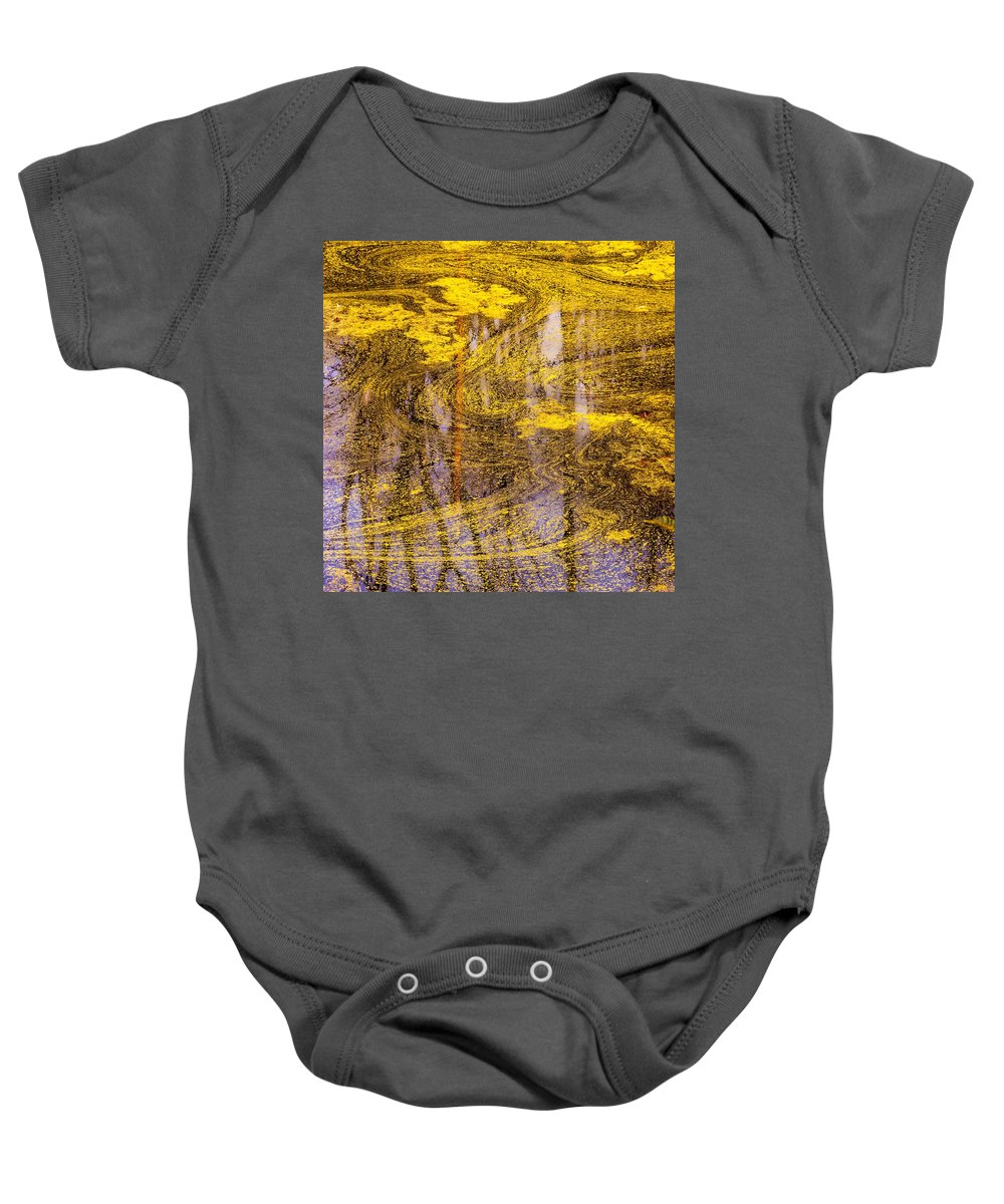 Pond Scum Baby Onesie featuring the photograph Pond Scum Three by Mike Penney