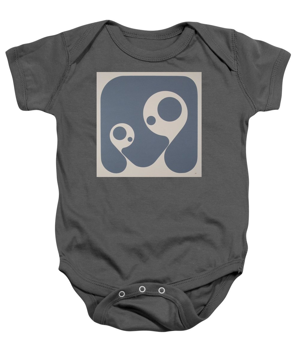 Abstract Baby Onesie featuring the painting Positive Rotation by James Hamilton