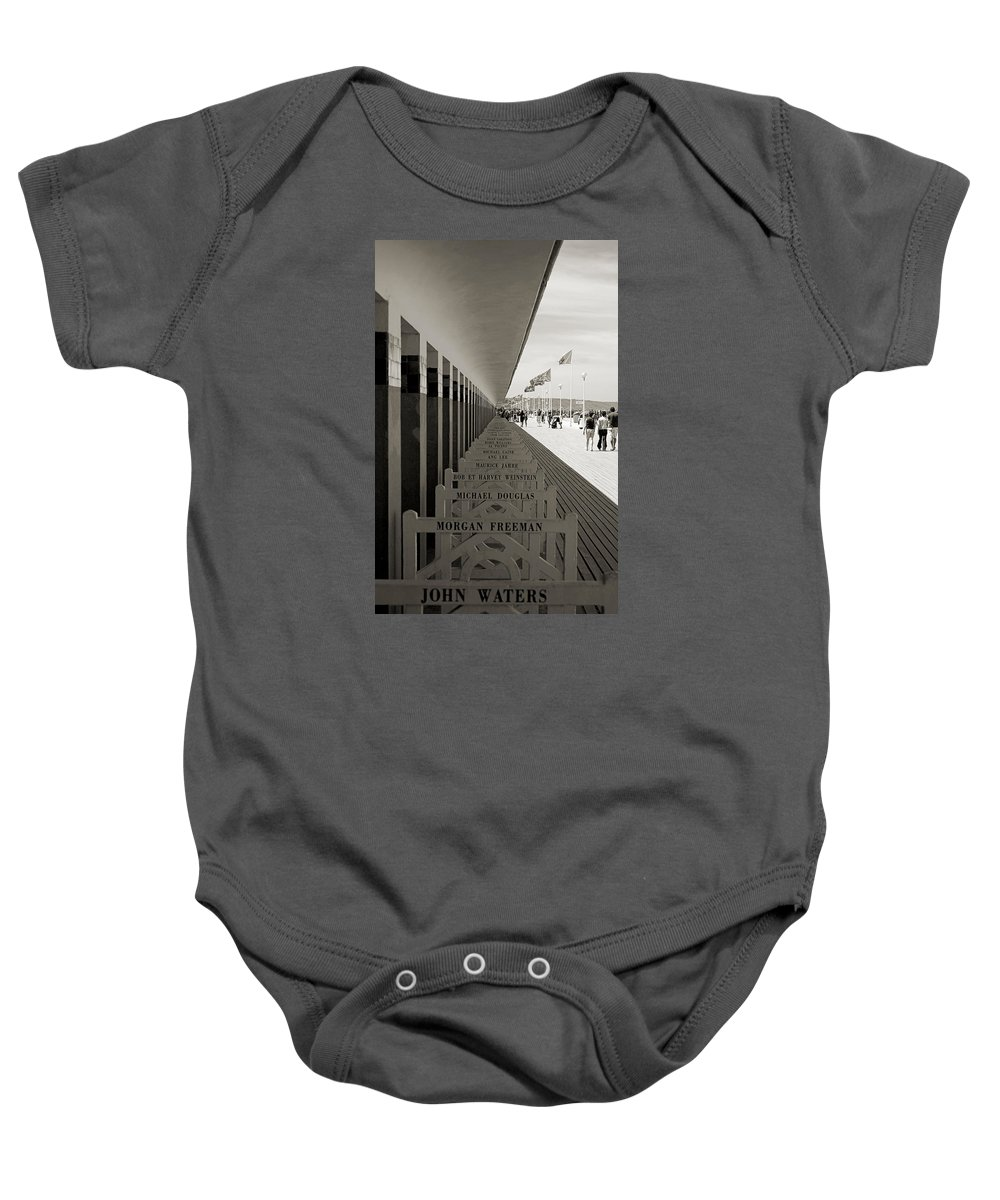Promenade Baby Onesie featuring the photograph Promenade Des Planches by RicardMN Photography