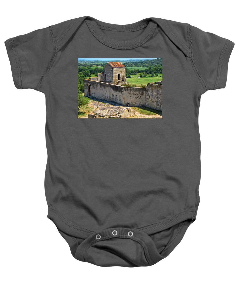 Provence Baby Onesie featuring the photograph Provence Countryside by Dave Mills