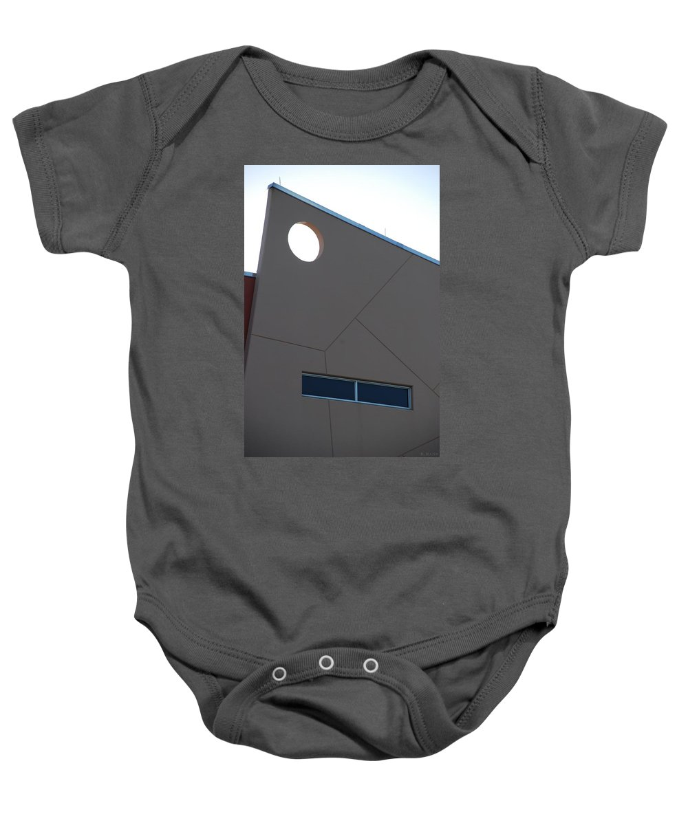 Architecture Baby Onesie featuring the photograph Q W School by Rob Hans