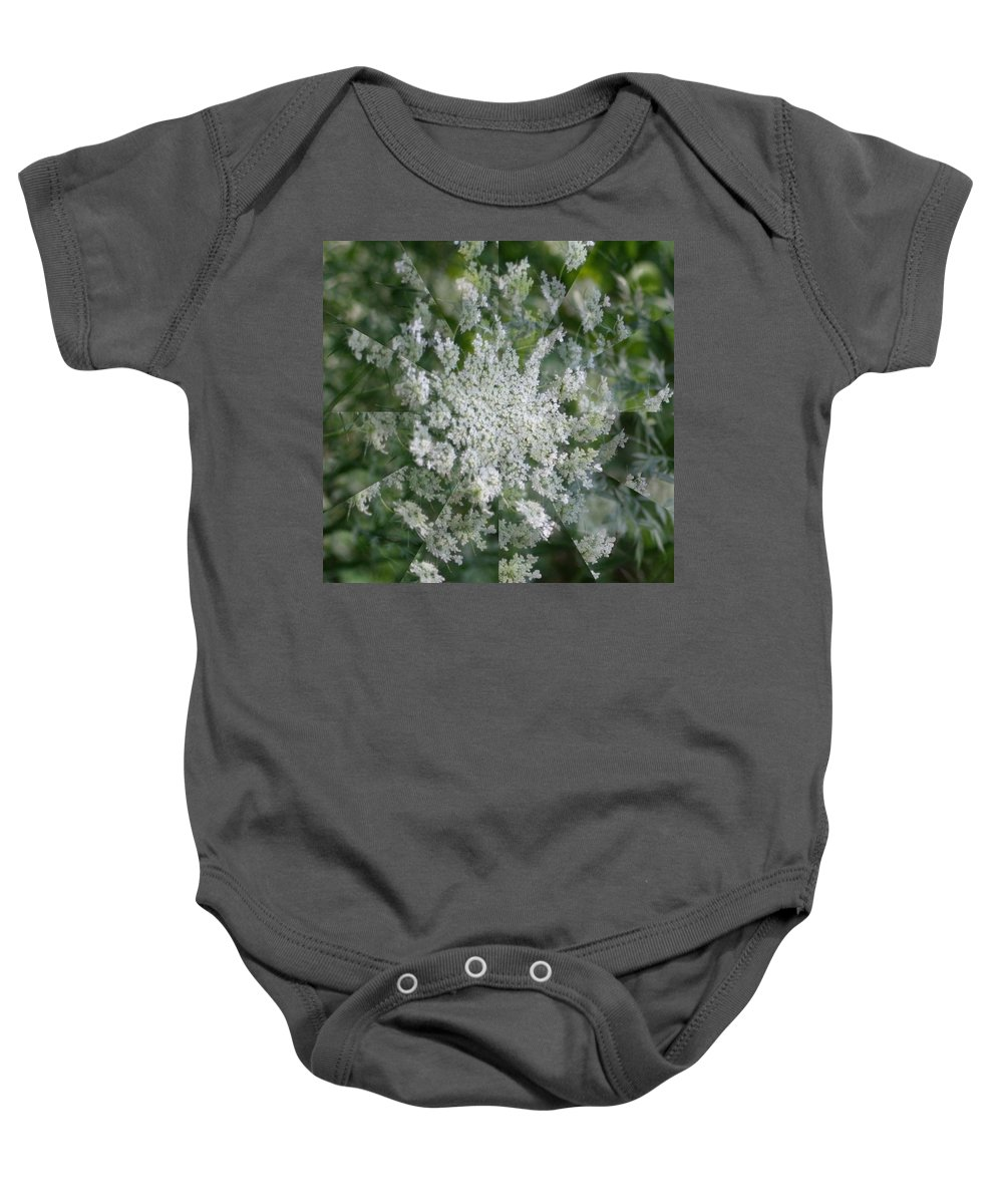 Baby Onesie featuring the photograph Queen Anne Pin Wheel by Barbara S Nickerson