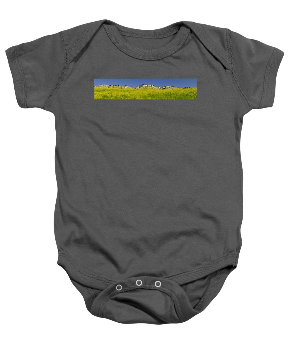 Americas Baby Onesie featuring the photograph Ragweed Bluffs by Roderick Bley