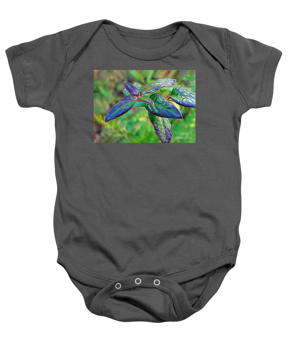 Rain Baby Onesie featuring the photograph Raindrops On The Leaves by Judi Bagwell