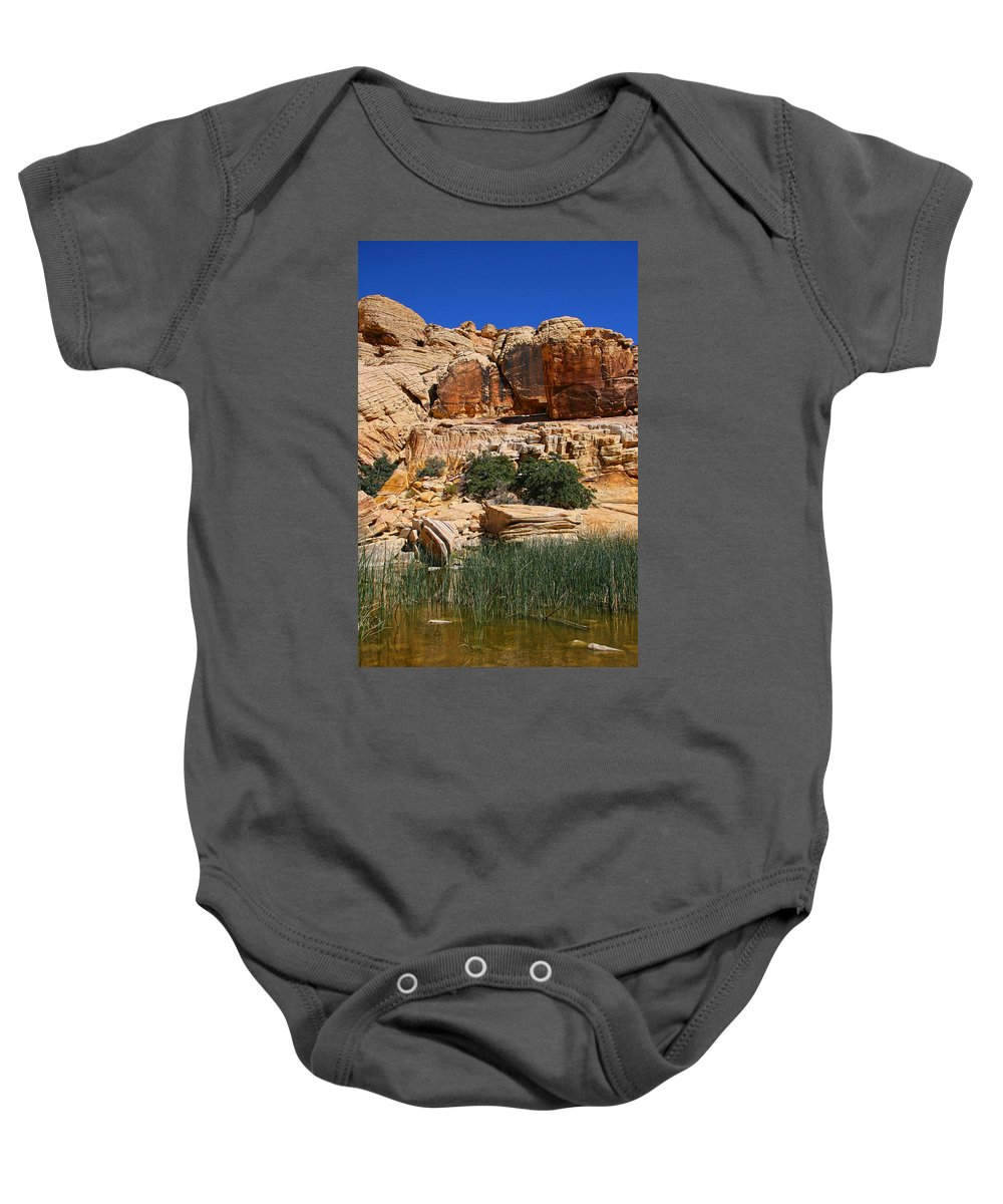 Red Rock Canyon Baby Onesie featuring the photograph Red Rock Canyon The Tank by Chris Brannen