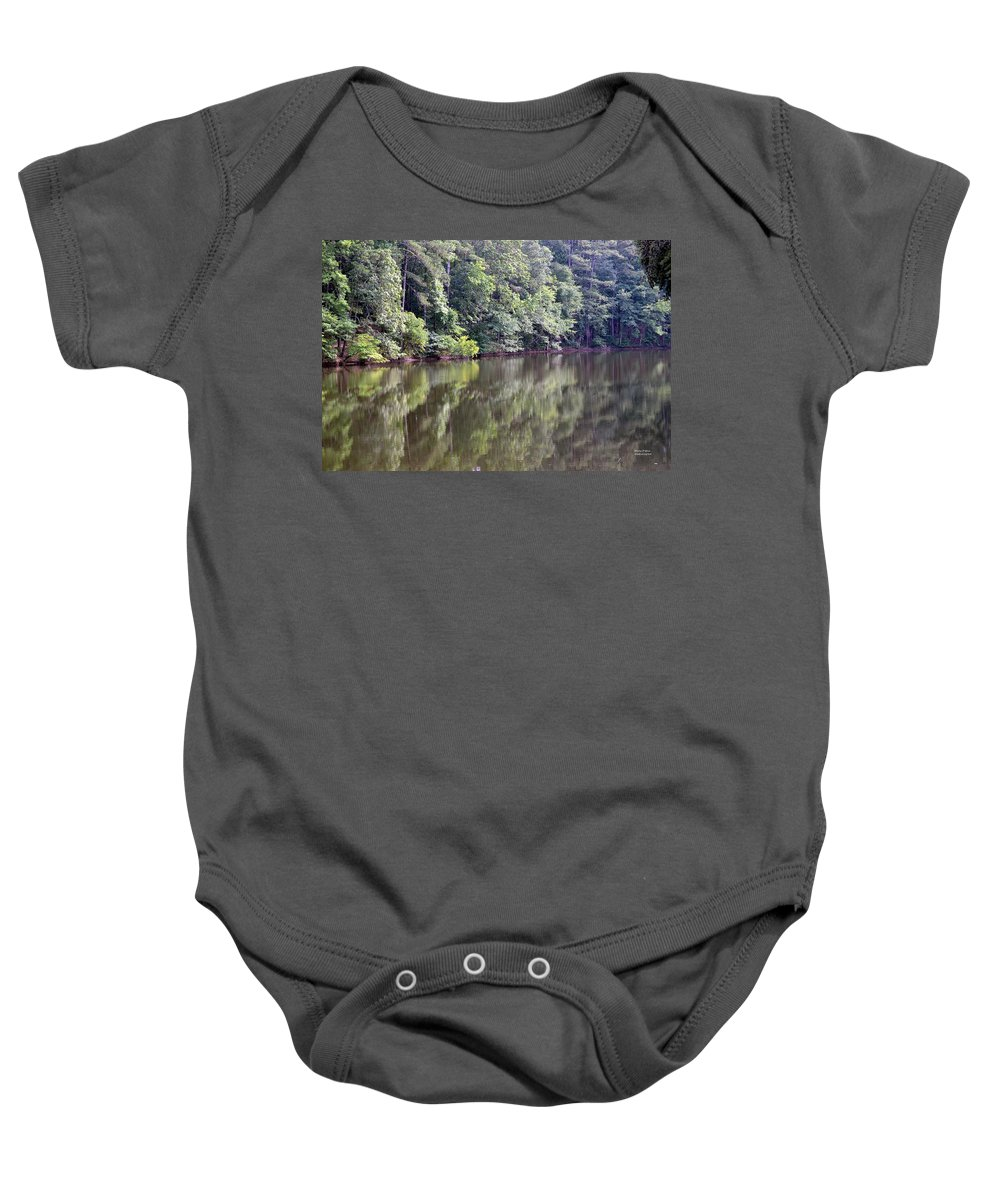 Reflections Baby Onesie featuring the photograph Reflections On Aldridge Lake by Maria Urso