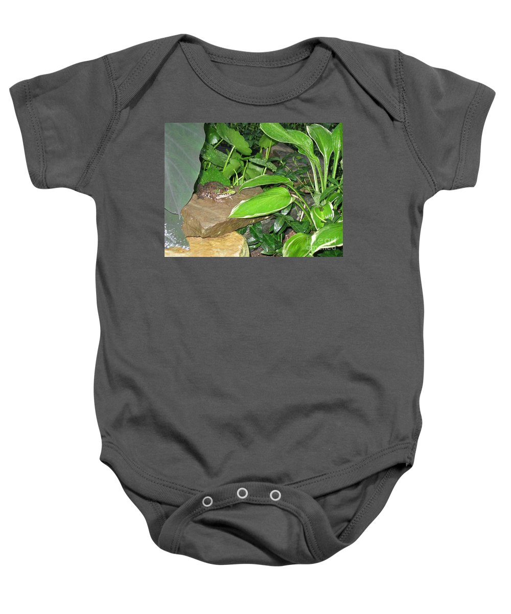 Toad Baby Onesie featuring the photograph Ribbit by Nancy Patterson
