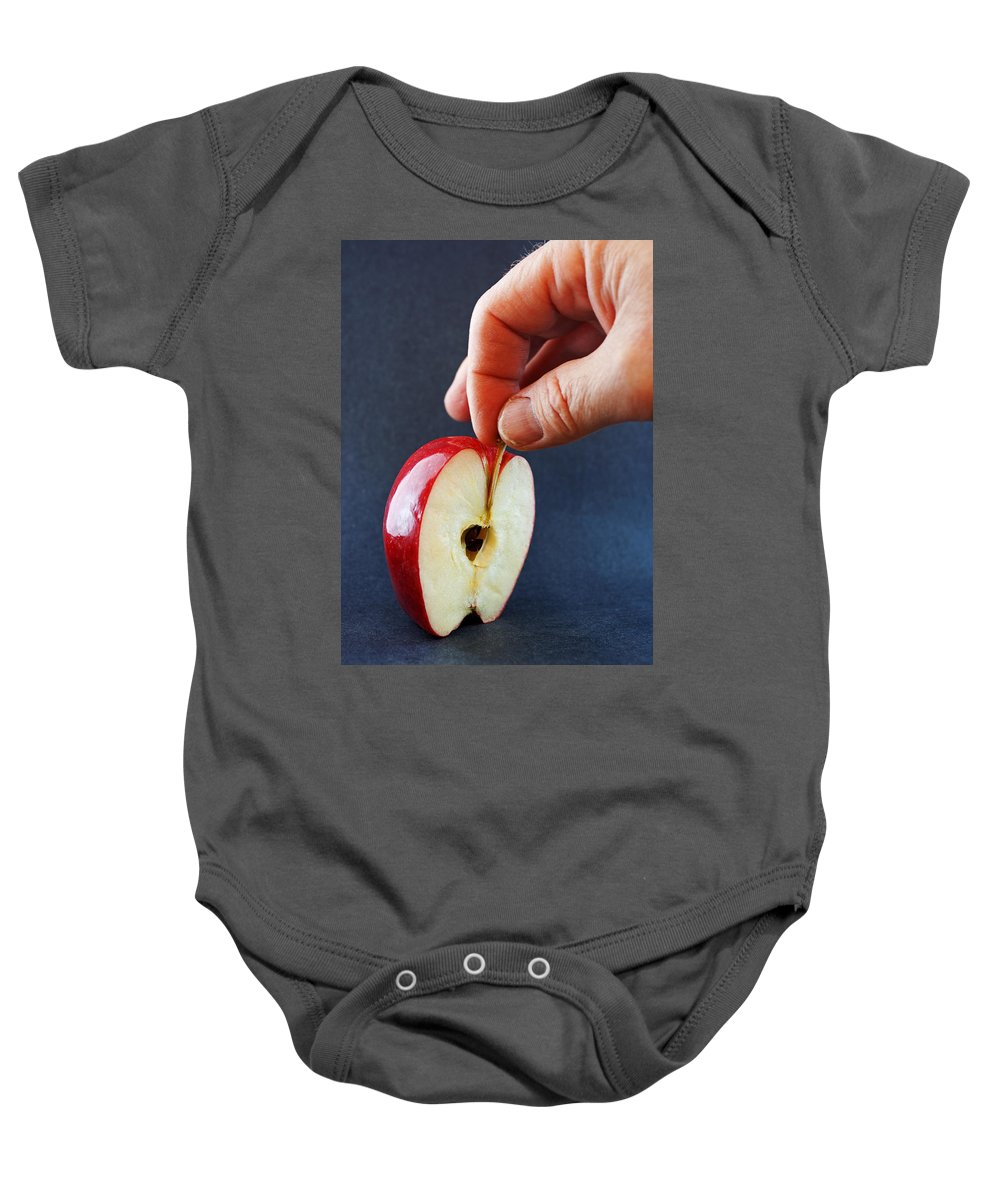 Apple Baby Onesie featuring the photograph Ripe For The Picking by Jeff Galbraith