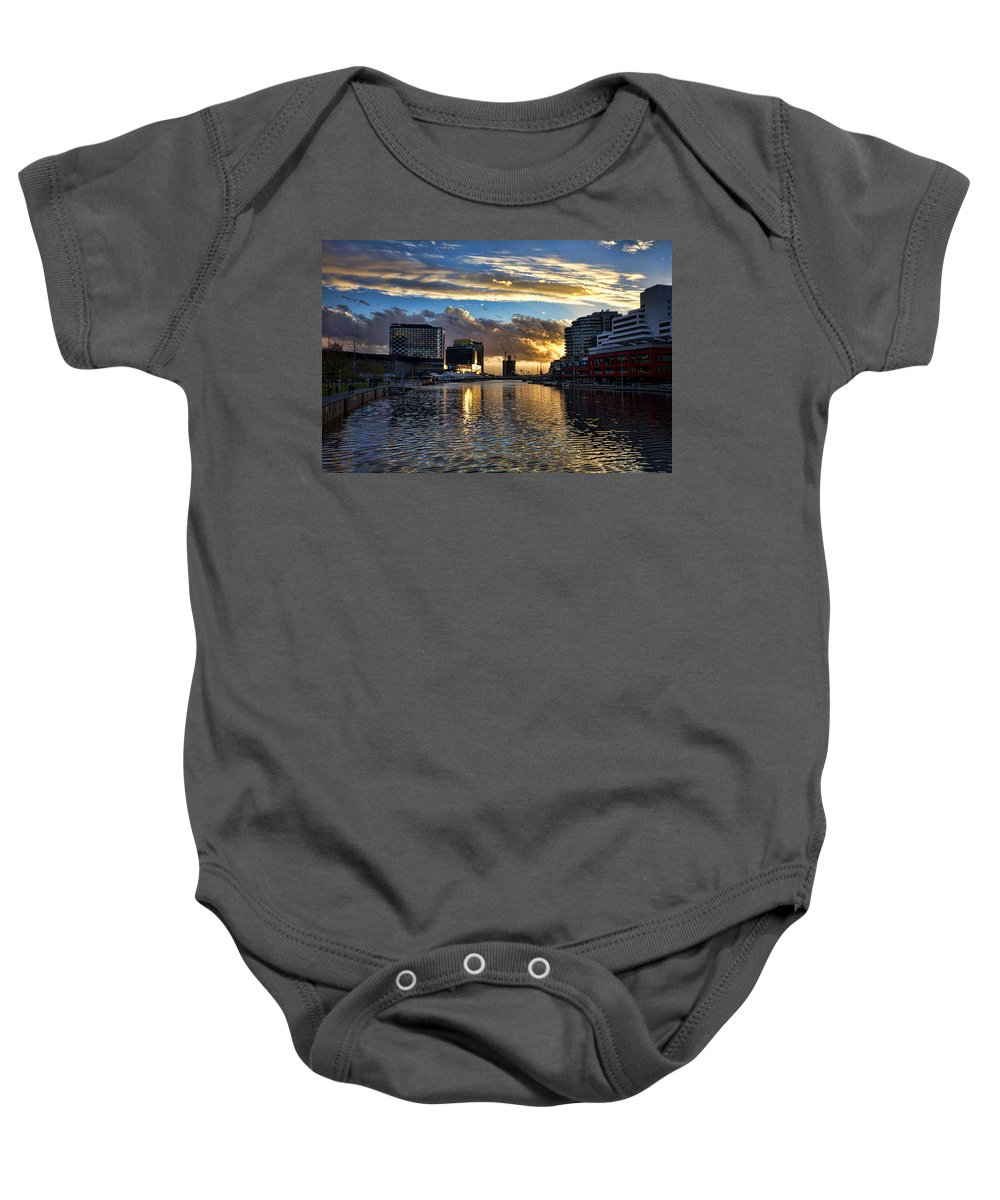 Rippled Baby Onesie featuring the photograph Rippled Waters by Douglas Barnard