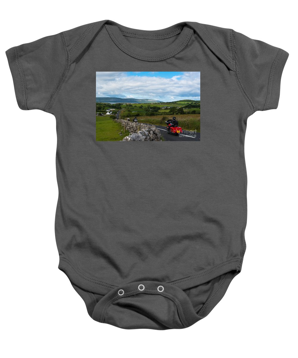 Burren Baby Onesie featuring the photograph Road Trip by Andrew Michael