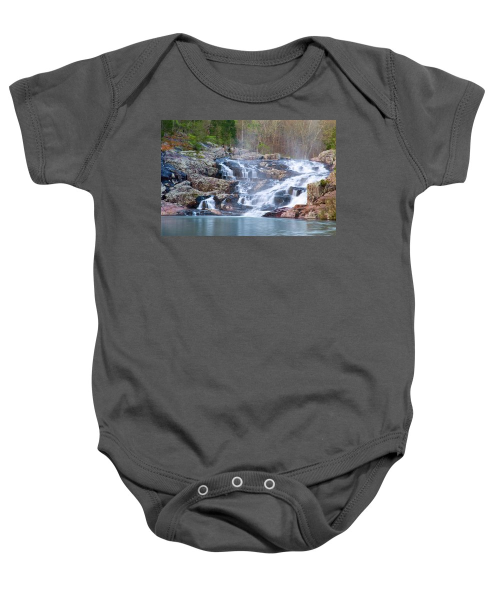 Missouri Baby Onesie featuring the photograph Rocky Falls by Steve Stuller