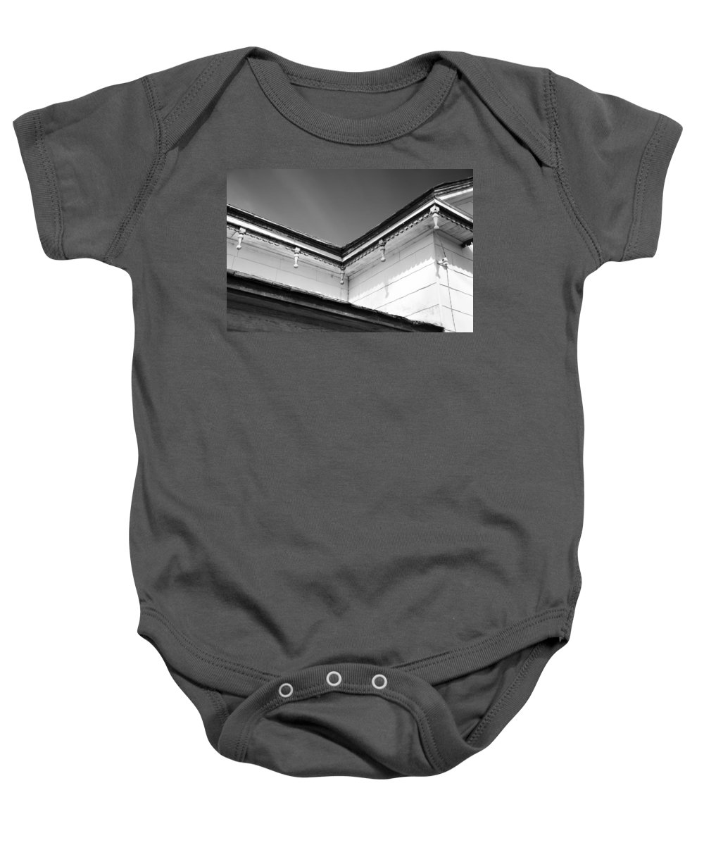 Barn Baby Onesie featuring the photograph Roofline Trim by Guy Whiteley