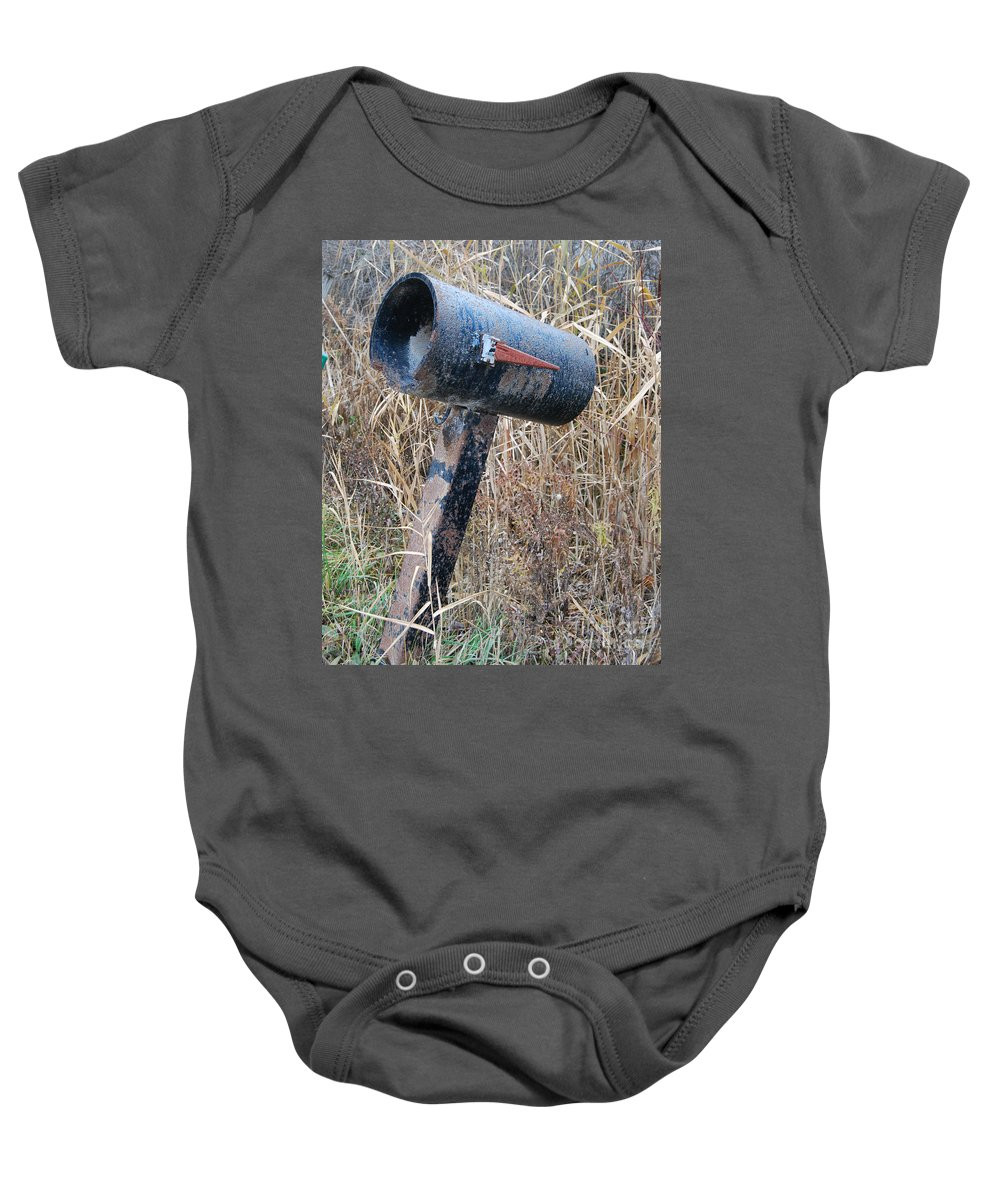 Rural Baby Onesie featuring the photograph Rural Mailbox by Grace Grogan