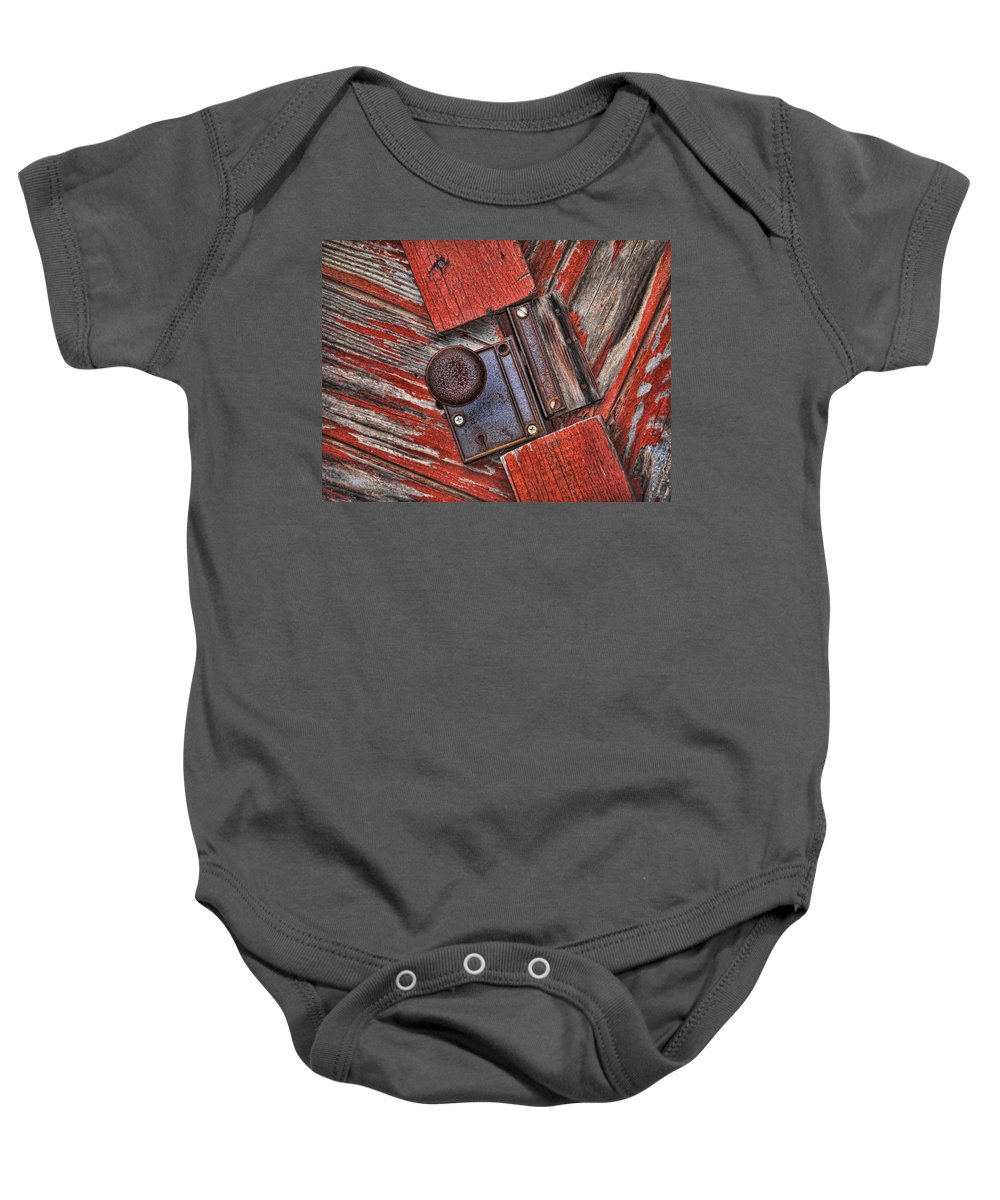 Rusty Baby Onesie featuring the photograph Rusty Dusty And Musty by Kathy Clark