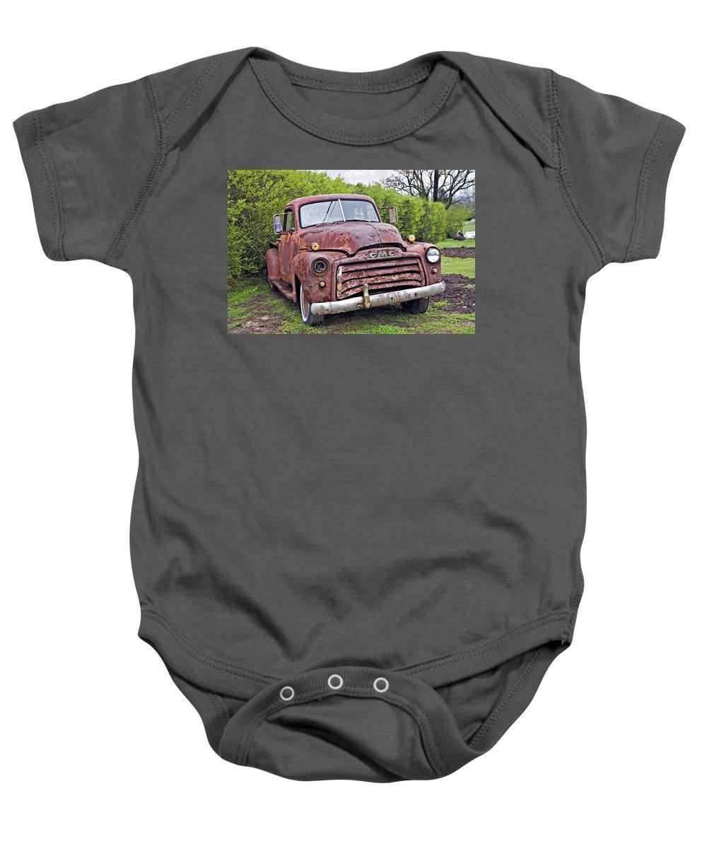 Truck Baby Onesie featuring the photograph Sad Truck by Susan Leggett