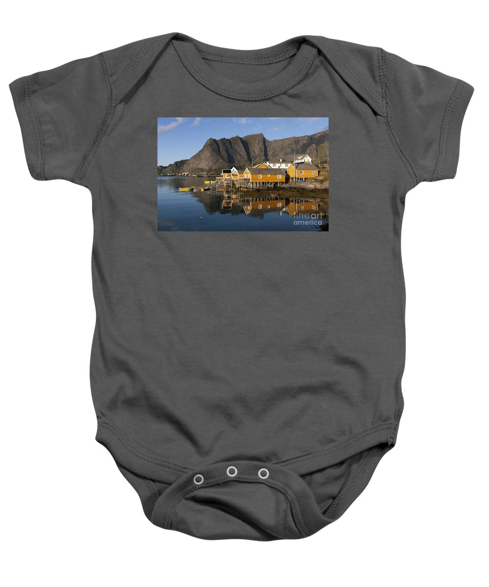 Norway Baby Onesie featuring the photograph Sakrisoy by Heiko Koehrer-Wagner