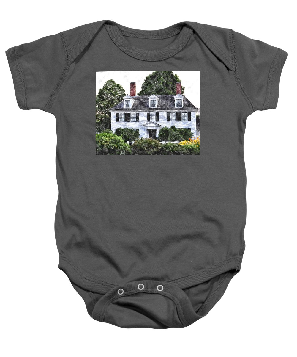 House Baby Onesie featuring the digital art Sarah Jewette House Sjhwc by Jim Brage