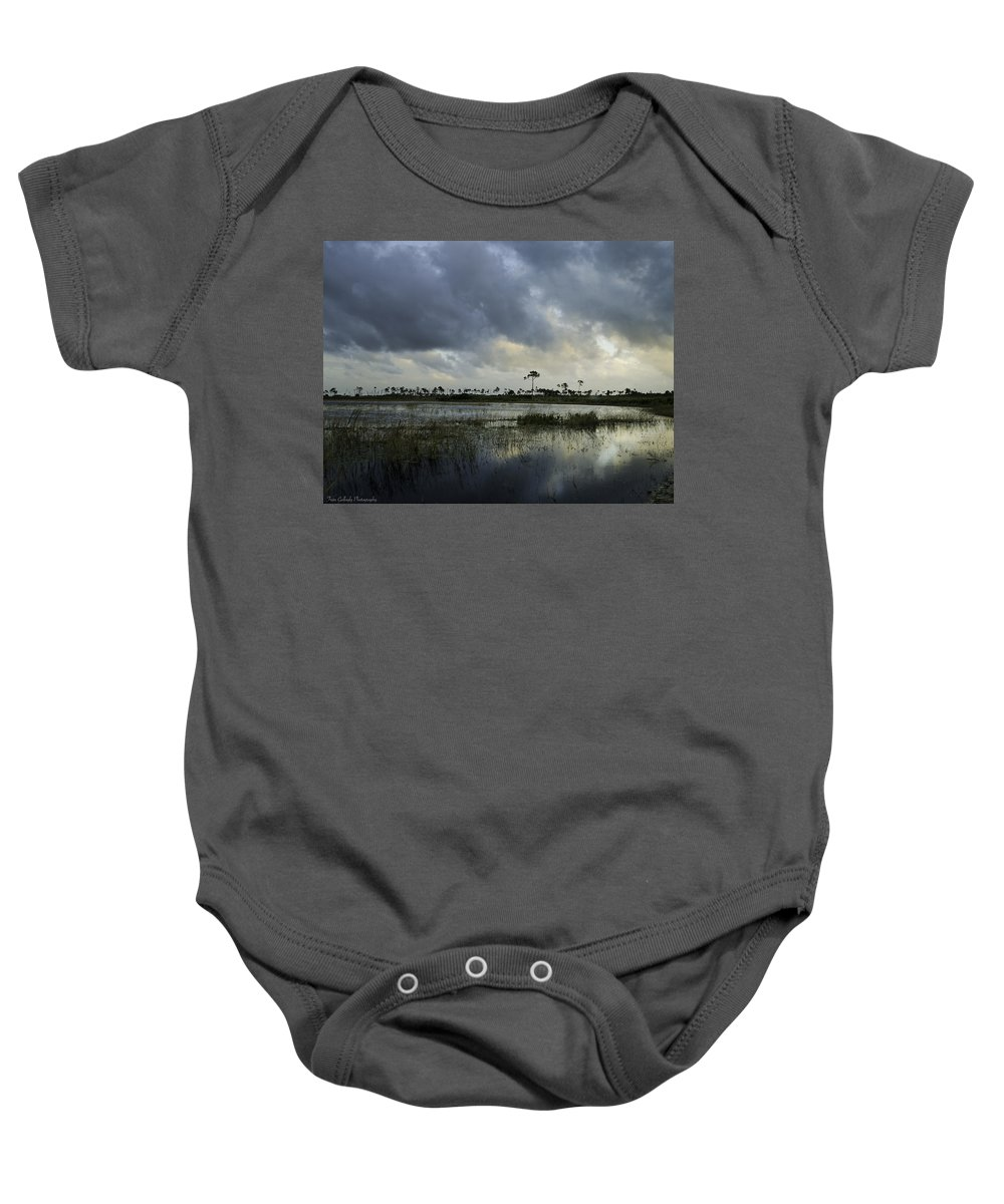 Landscape Baby Onesie featuring the photograph Savannah At Twilight by Fran Gallogly