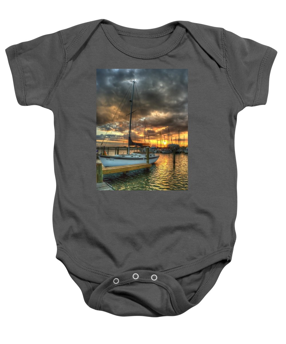 Sailboat Baby Onesie featuring the photograph Sea Dream by Beth Gates-Sully