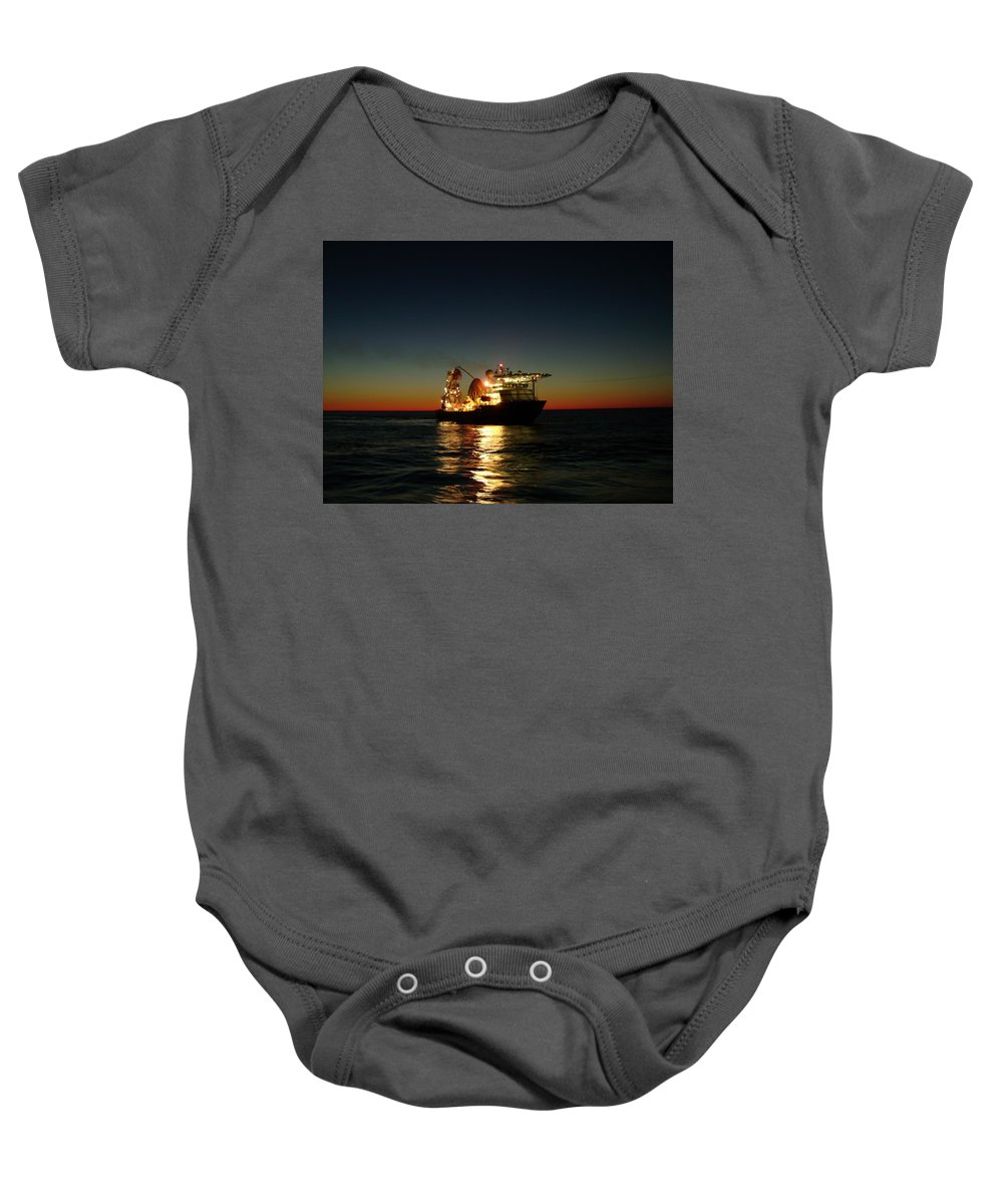 Photograph Baby Onesie featuring the photograph Seven Navica Just Before Dawn by Charles and Melisa Morrison