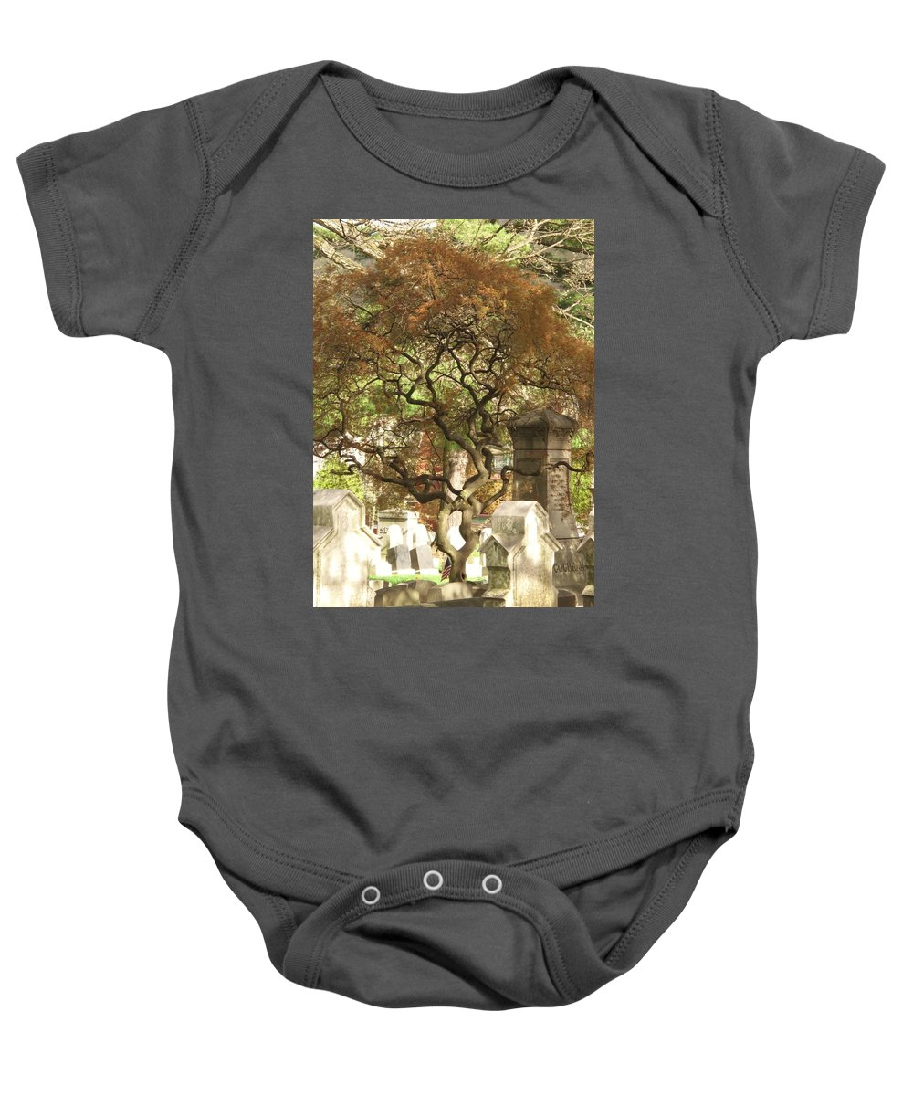 Graveyard Baby Onesie featuring the photograph Shade For The Weary by Michele Nelson
