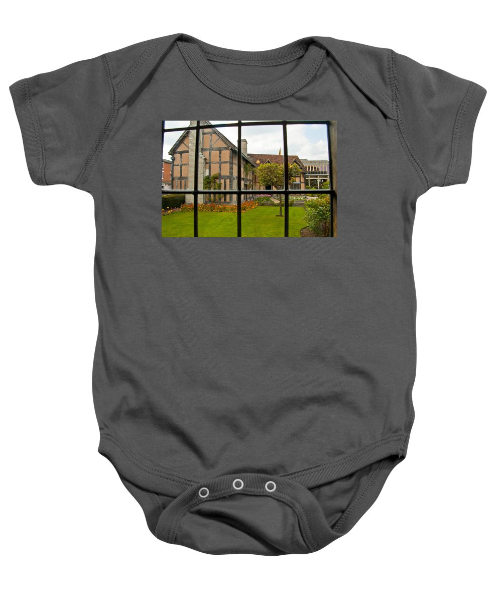 Stratford On Avon Baby Onesie featuring the photograph Shakespeares Home by Jon Berghoff