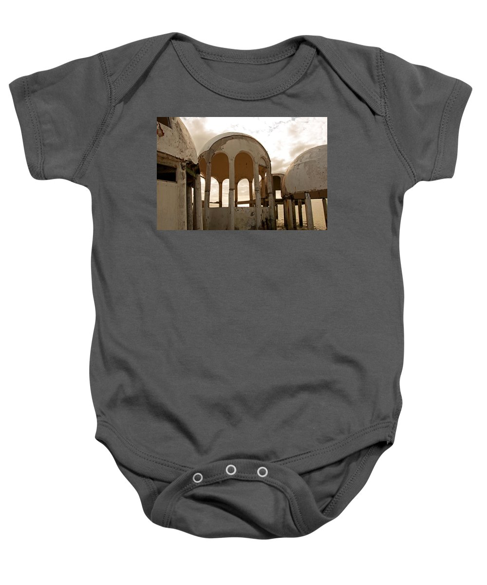 Bubble Houses Baby Onesie featuring the photograph Shell Of My Former Self by Christine Stonebridge