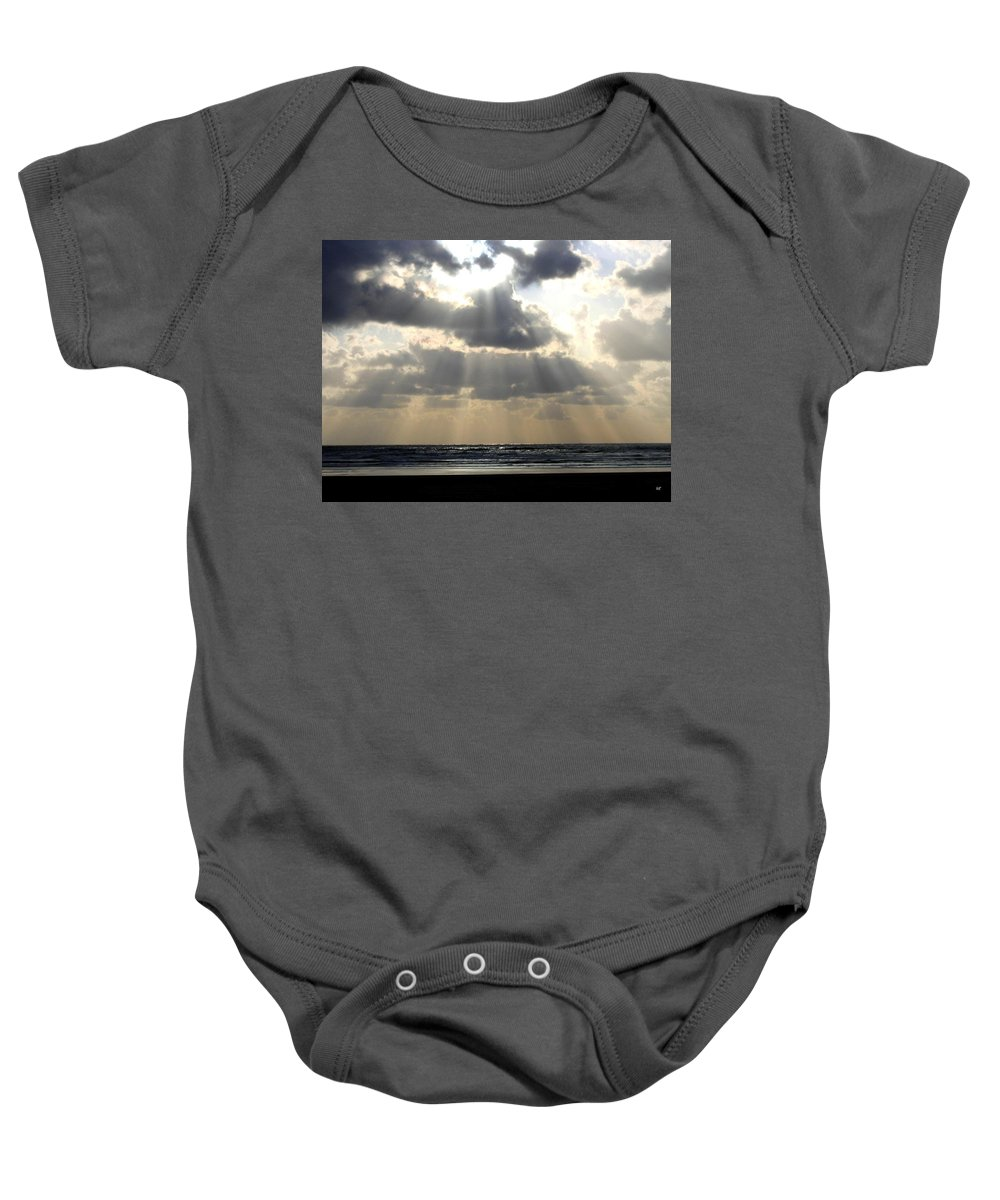 Silver Rays Baby Onesie featuring the photograph Silver Rays by Will Borden
