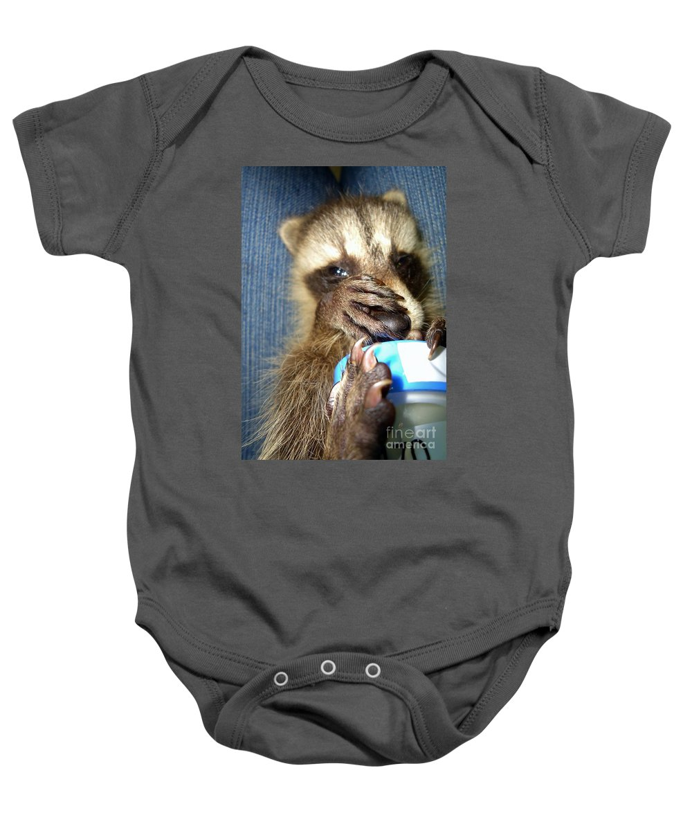 Nature Baby Onesie featuring the photograph Snuggle Bug by Art Dingo