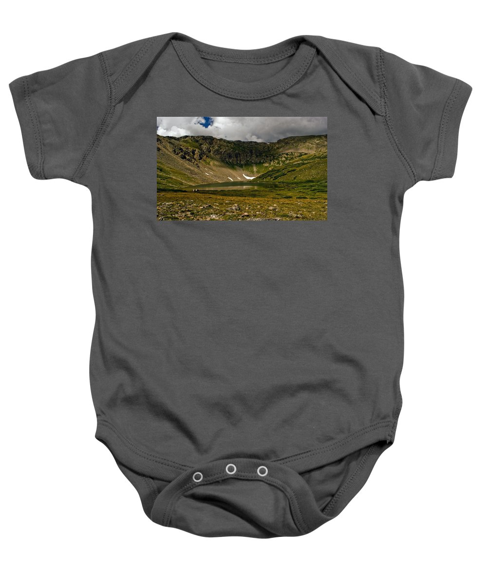 Lake Baby Onesie featuring the photograph Solitude by Brian Kerls