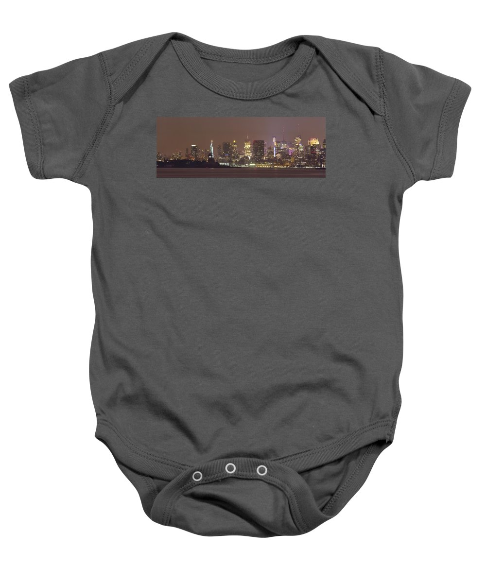 Statue Baby Onesie featuring the photograph Song Of Liberty by Evelina Kremsdorf