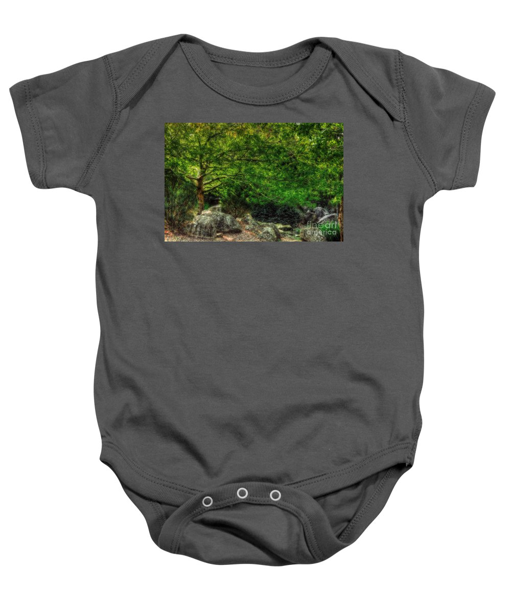Photography Baby Onesie featuring the photograph Spring Canopy by Kaye Menner
