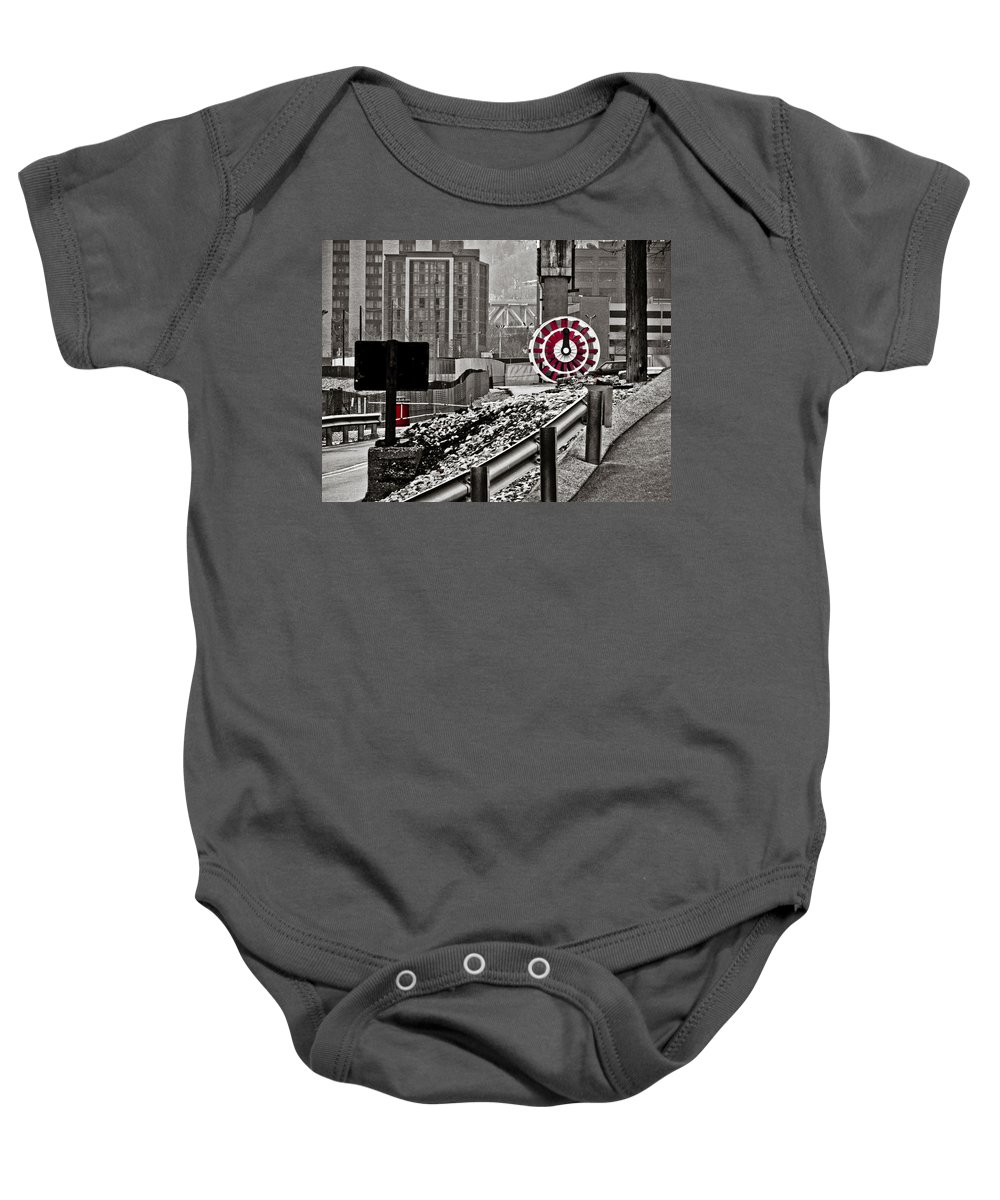 Pittsburgh Baby Onesie featuring the photograph Steamboat Streets by Jessica Brawley